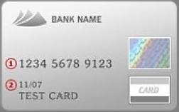Bankkártya előlap