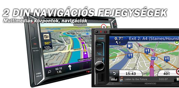 2 DIN Navigációs