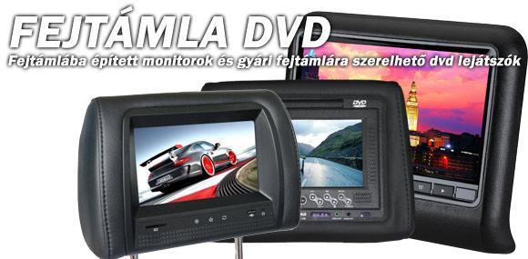 Fejtámla DVD és Monitor