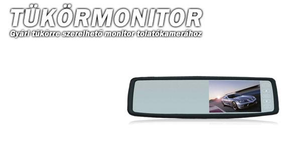 Tükör Monitor/GPS
