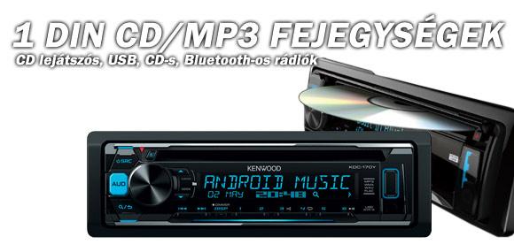 1 DIN CD/MP3 Fejegységek