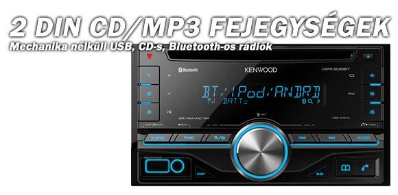 2 DIN CD/MP3 Fejegységek