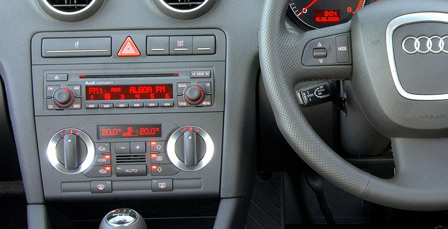 Audi A3, 1 DIN (2003-2013) Csatlakozók