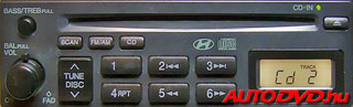 Hyundai 8 Pin CD tár csatlakozós (1999-2005)