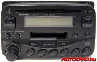 Hyundai 8 Pin CD tár csatlakozós (1998-2005)